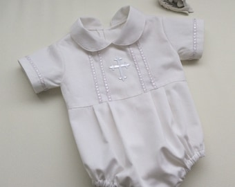0b89550d8a90 Baby Boy Christening Romper