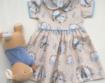 54d5e1a2f Peter Rabbit Dress - Custom MADE TO ORDER Sizes 0000 - 5, Girls Easter  Dress, Taupe Girls Dress, Beatrix Potter Dress, Australian Seller