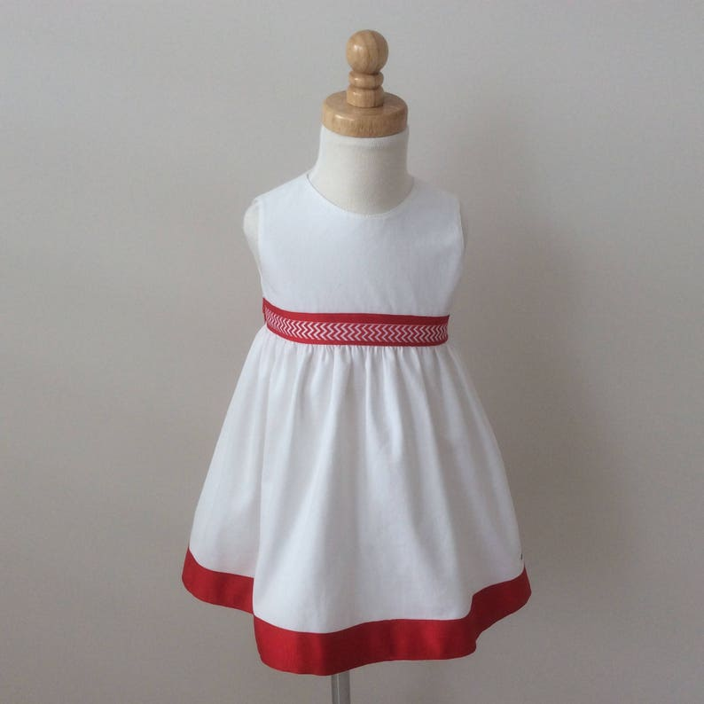 2fe6bc938a227 Girls Christmas Dress - Size 1 - READY TO SHIP, Girls Festive Dress, Girls  White and Red Dress, Toddler Christmas Outfit, Australian Seller