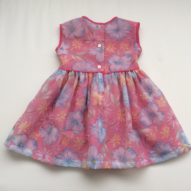 Pink Dress Fit and Flare Dress Australian Seller Party Dress Size 00 Girls Floral Dress READY TO SHIP Spring Dress Summer Dress