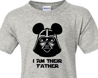 95964ed41 I Am Their Father Shirts, Darth Vader Dad Vacation Shirts, Disney World, Disney  Shirts, Disney Vacation, Dad Tee, Star Wars