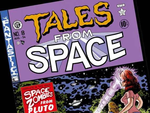 Back to the Future Tales From Space Comic Book Cover Print Prop Replica