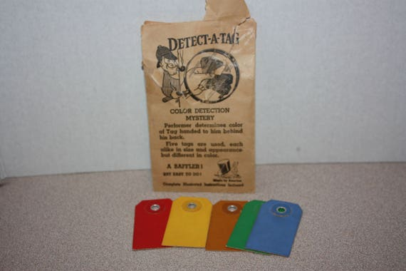 Vintage Color Detection Mystery Magic Trick W Instructions In