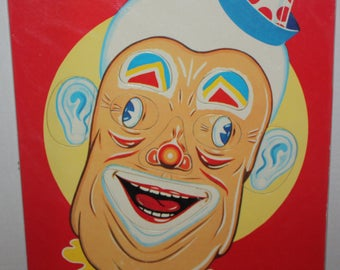 Vintage Change-o Clown Tray Puzzle 1960's (S.P. Co #7460)