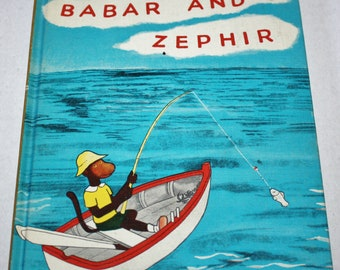 Dandelion Library - Babar and Zephir/The Tale of Squirrel Nutkin 2 in 1 Flip Book HC 1960's