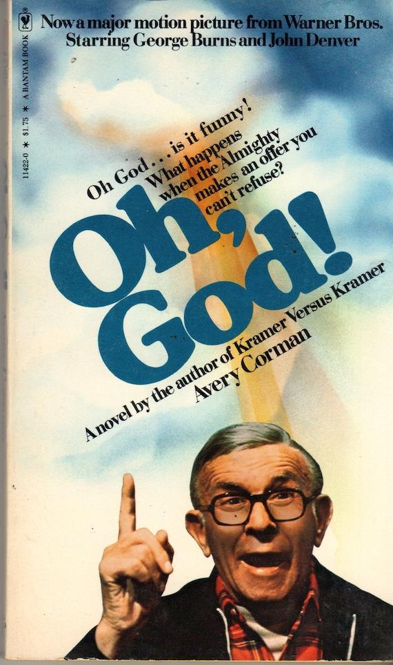 Oh God Movie Paperback Book 1978 Avery Corman Bantam Books Etsy