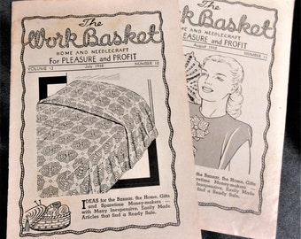 Volume 48 Crochet 1983 Quilting Flower and Garden Knit Toys Tatting The Workbasket Recipes Needlecraft Sweaters Afghans