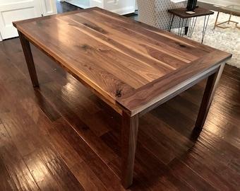 walnut dining table etsy rh etsy com walnut dining room table legs and bases walnut dining room table legs