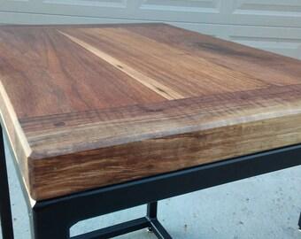 Walnut Breadboard End Table Set