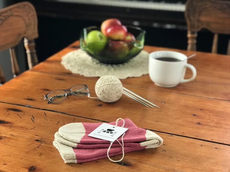 Pima Cotton Socks Hand Knitted Vegan Socks Pink