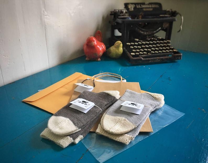 Yellow Hand Knitted Vegan Socks Pima Cotton Socks
