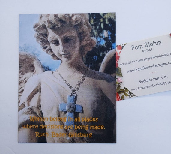 "Artwork Magnet ""Ruth Ginsburg"" quote about woman / Pam Blohm original Angel Photography image"