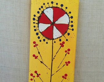"Tribal Abstract ""Seeds of Life "" wall art/ Original acrylic Modern painting  /Small art/office art/home decor"