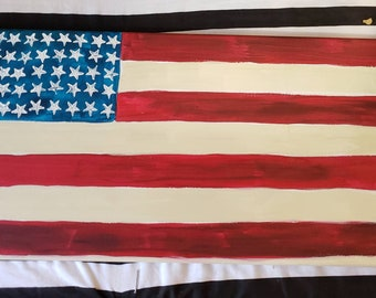 Customize/Personalize a  Flag Painting-  you create your own words to. 10x20 stretched canvas