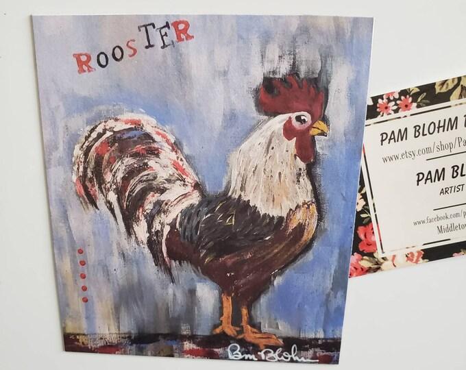 ROOSTER Art Magnet / farmhouse kitchen decor