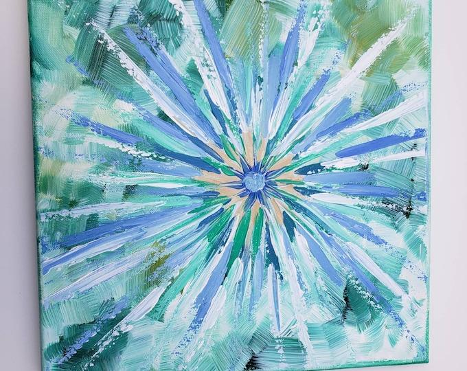"12x12 original Abstract ""Good Vibrations"" energy artwork- Acrylic painting"
