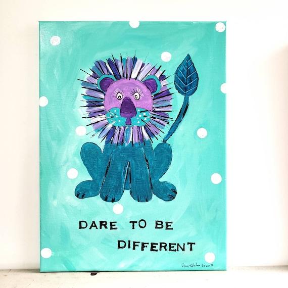 "12x16 acrylic original artwork/"" Dare to be Different "" wall art /home decor"