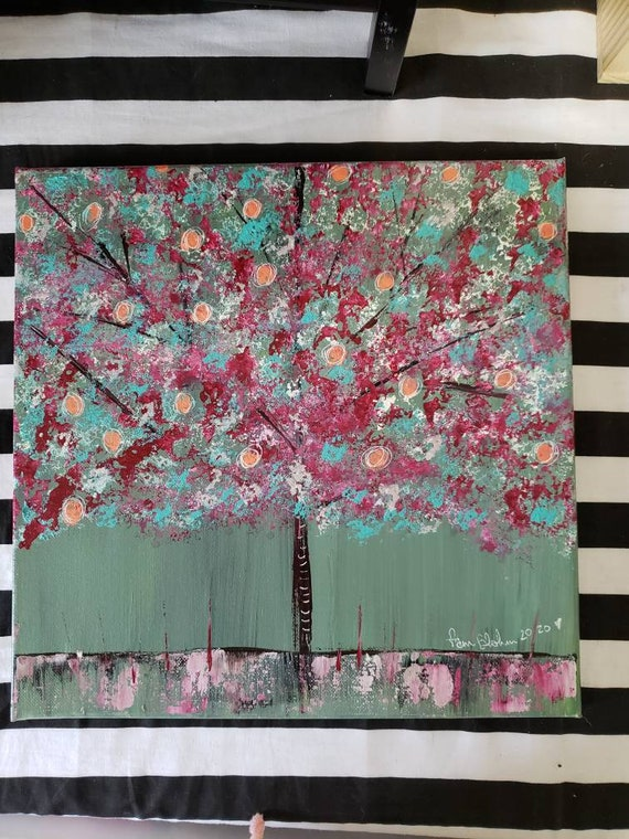 """12x12 original abstract painting/ """" Is that Fruit? """" wall art/ Bedroom art/Office art/Nursery Painting"""
