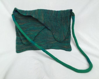 Hand felted wool handbag