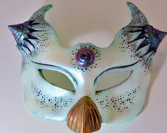 Masquerade Mask Opal Labyrinth Steampunk Nautical