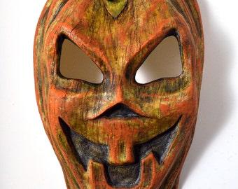 Pumpkin Mask Halloween Creepy Jackolantern