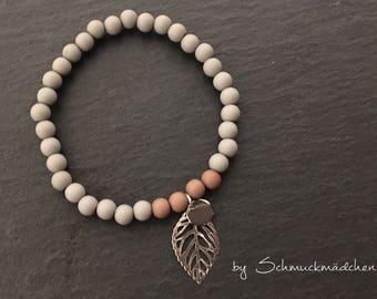 Bracelet beads grey