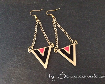 Ear ringer earrings gold triangle