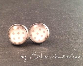 Earrings stainless steel grey points