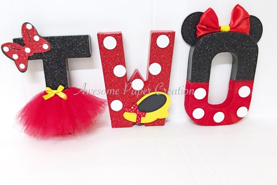 Minnie Mouse Letters Two 2nd Birthday Party