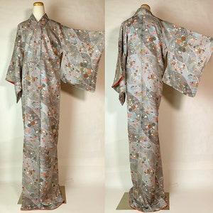 Japanese A110201 Very Cool Kyo-Yuzen Komon Kimono