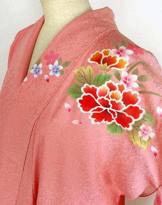 Pink Japanese K72907 Kyo Brand Yuzen Kimono Furisode Splendid New wEBTxqdB