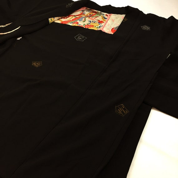 Japanese A101502 Elegant Cool Black Haori Jacket Vintage