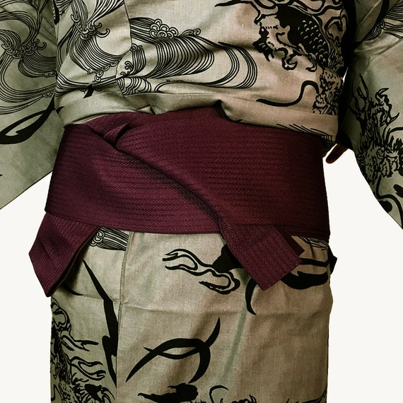 Pattern Men's and Obi Set Yukata Dragon E072903 Cool Japanese IYqtFY