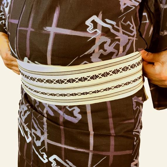 Cool Japanese and Obi Yukata Men's Size Set E072901 B qxwA5U