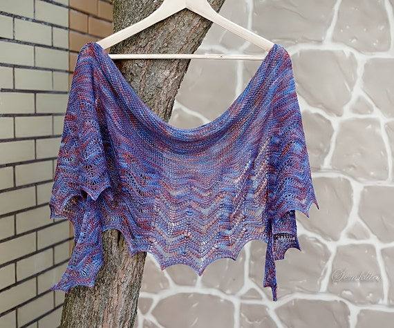 Tricot de châle châle châle de laine mérinos extra fine   Etsy f0506f28e7f
