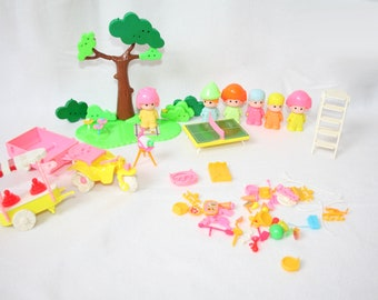 80's Toys Pin y Pon 1984 Pinypon figures + accessories set