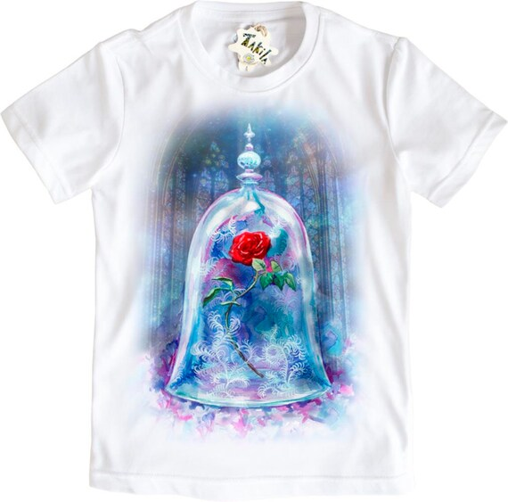 Enchanted rose from Beauty and the Beast movie Girls' t shirt by Takila