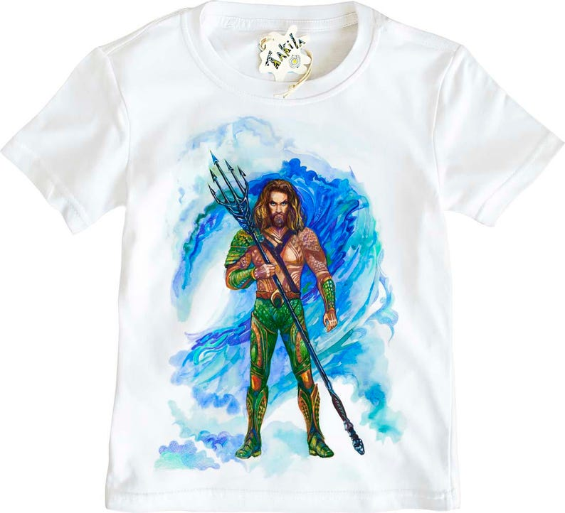 c36ca096502 Aquaman from Justice League Kids' T-Shirt by Takila | Etsy