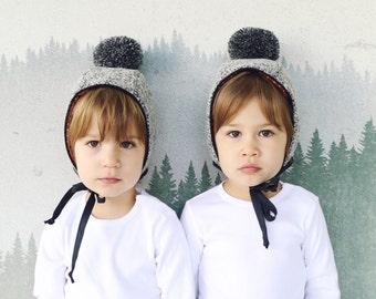 Winter Pom Pom Hat in Pure Wool