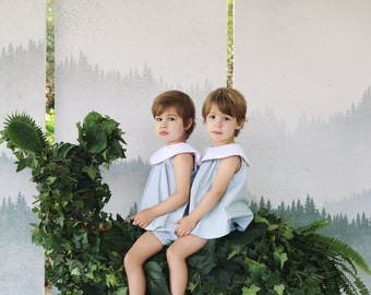 The Alice Twin-Set in Duck Egg Blue