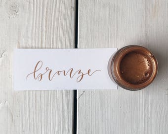Bronze Calligraphy Ink | Calligraphy Kit | Handmade Calligraphy Ink | Modern Calligraphy Ink | Dip Pen Ink | Copperplate Calligraphy Ink