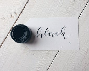 Black Calligraphy Ink | Calligraphy Kit | Handmade Calligraphy Ink | Modern Calligraphy Ink | Dip Pen Ink | Copperplate Calligraphy Ink