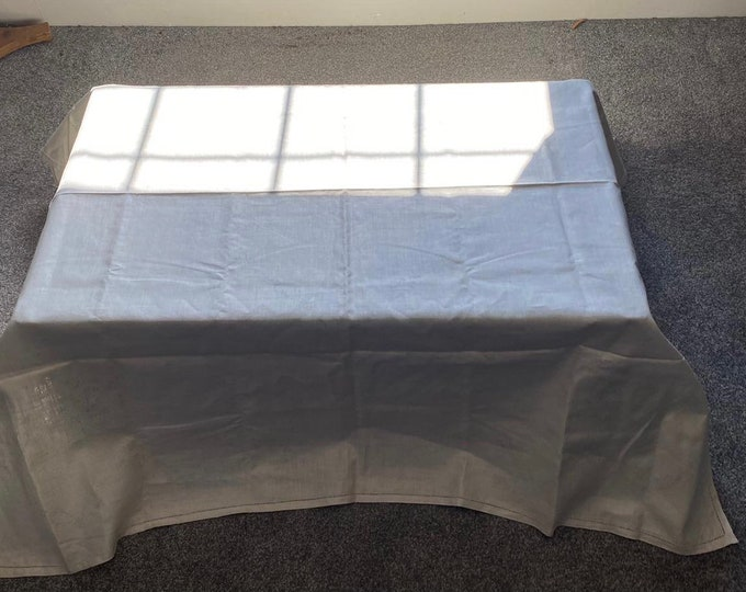Vintage 40s Linen Tablecloth Preprinted for Embroidery Unused