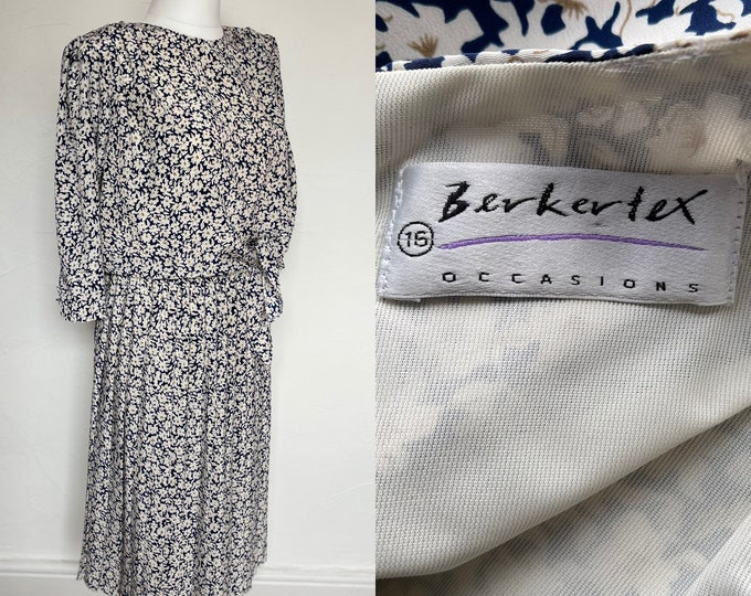 Vintage 1980s Dress Berkertex Summery Cool Floaty 80s New Romantics