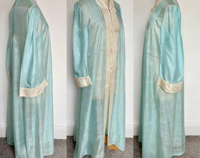 Fabulous 1920s Art Deco Silk Robe Sensual Oriental Dressing Gown House Coat Hand Made