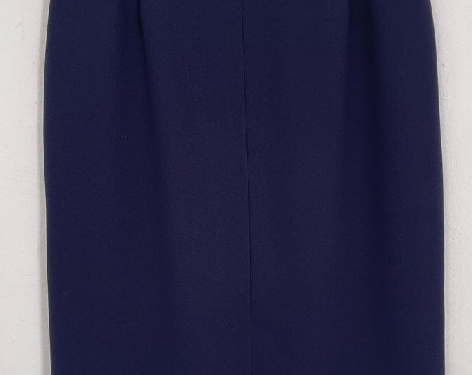 Eastex Skirt Navy Classic Cut Lined Dead stock size 16