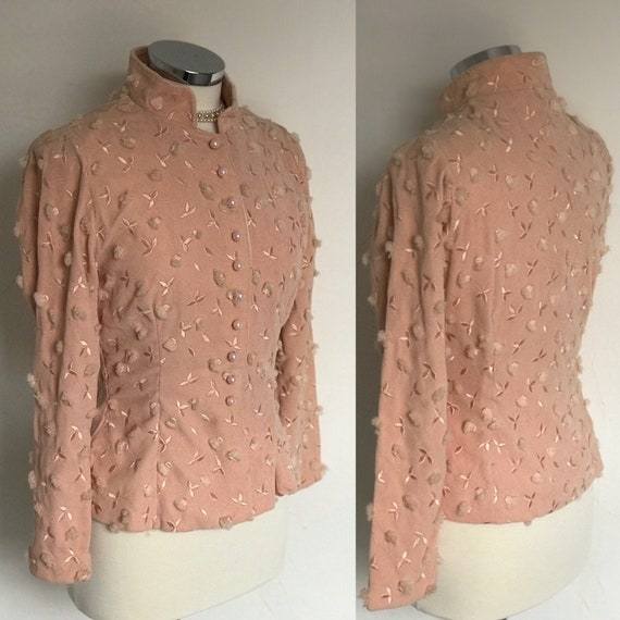 Vintage 1940s Jacket Evening Cockrail Bolero Fitte