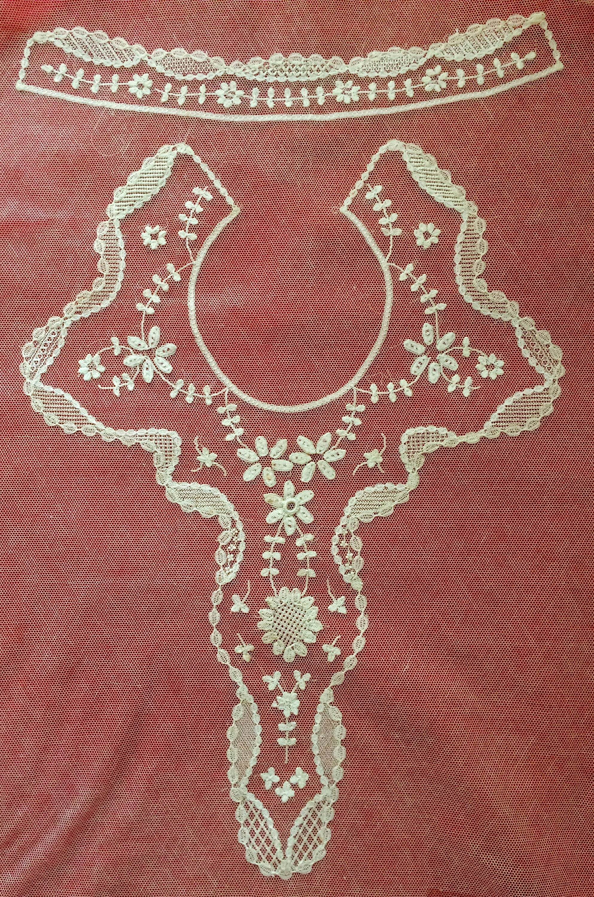 7f249a1ef87f Antique 1800s Rare Pattern   Completed Princess Silk Lace Bridal Bodice  Applique work Ex Museum. gallery photo ...