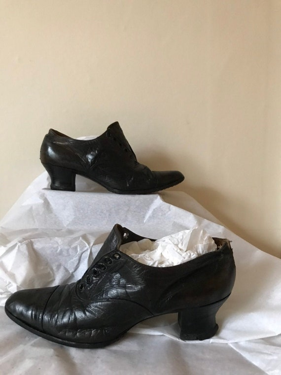Vintage 1920s Leather Boots Victorian Shoes by Lut