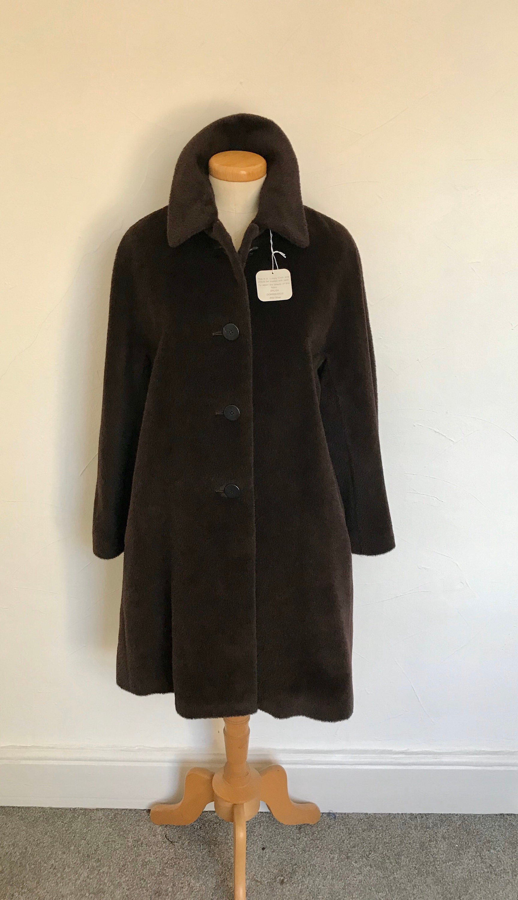 Vintage Austin Reed Duster Coat Italian Piacenza Pure Baby Llama Wool 3 4 Length Unworn Tagged